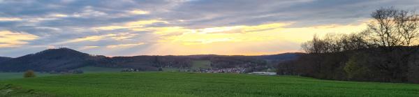 Abendrot über dem Krayenberg