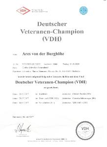 VDH Veteranenchampion Ares