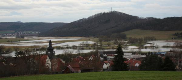 Hochwasser Werra 2020