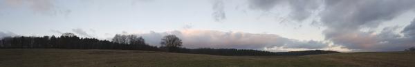 beeindruckende Wolken über Tiefenort